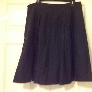 Black Banana Repbulic Pleated Mini Skirt sz14